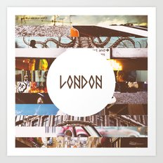 London Collage Art Print