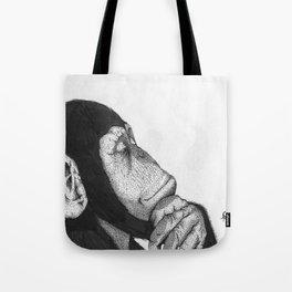 Thinking monkey Tote Bag