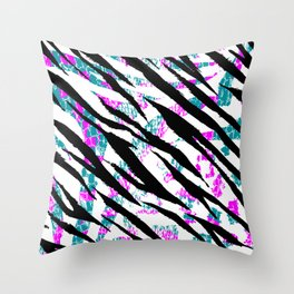 Animal Print In Bright Colors Throw Pillow