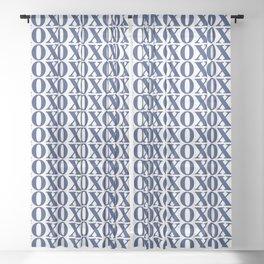 Navy XOXO Sheer Curtain