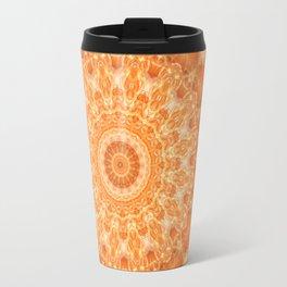 Mandala orange 2 Travel Mug