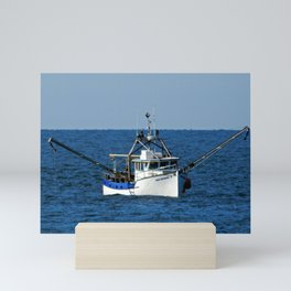 Fishing on the Sea 3 of 3 Starboard side view Mini Art Print