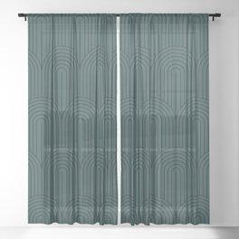 Art Deco Arch Pattern XVI Sheer Curtain