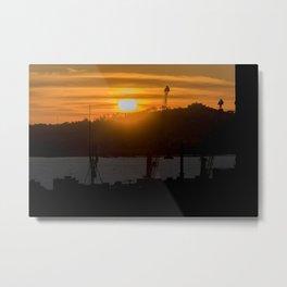 Aerial View Sunset Scene of Montevideo Uruguay Metal Print