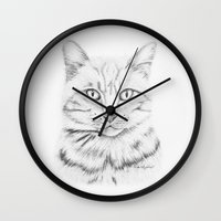 garfield Wall Clocks featuring Tabby Tom by Nove Studio