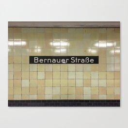 Berlin U-Bahn Memories - Bernauer Straße Canvas Print