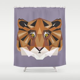T is for Tiger Shower Curtain
