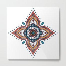 Rubino Zen Flower Yoga Mandala Floral Metal Print