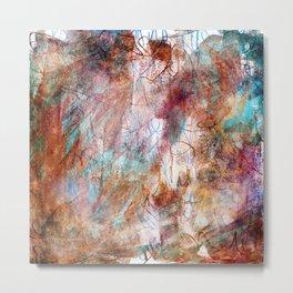 Colour Blurry Metal Print