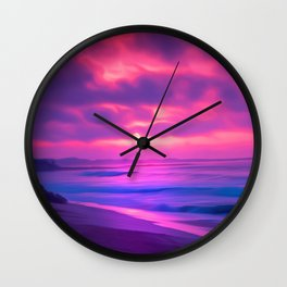 Rayleigh Scattering Beach | Painting  Wall Clock