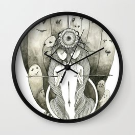 Look Towards the Sun and You Won't See The Shadows Wall Clock