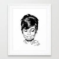audrey hepburn Framed Art Prints featuring Audrey Hepburn by Geryes