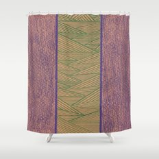 Green and Purple Shower Curtain