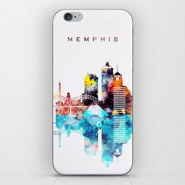 Colorful Watercolor Memphis Skyline iPhone Skin
