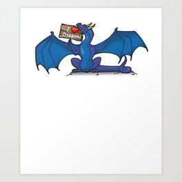 I Love Dragons Art Print