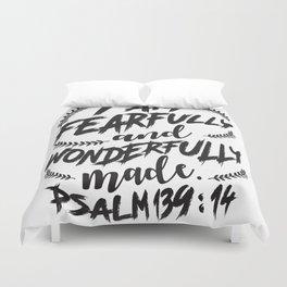 Psalm 139:14 Duvet Cover