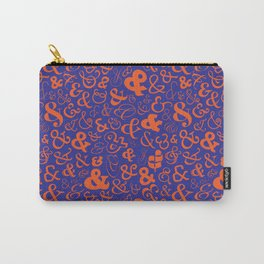 Ampersands - Blue & Orange Carry-All Pouch