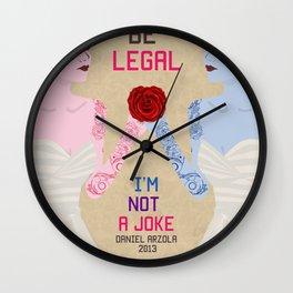 Love Should be Legal Wall Clock