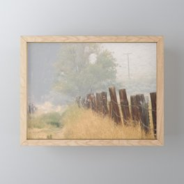 Fence Line Framed Mini Art Print
