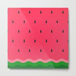 Watermelon summer fruit Fresh pattern Metal Print