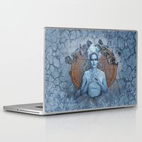 evil queen Laptop & iPad Skins featuring Introducing the Evil Ice Queen by altimus pond