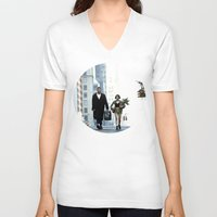 leon V-neck T-shirts featuring LEON, THE PROFESSIONAL by VAGABOND