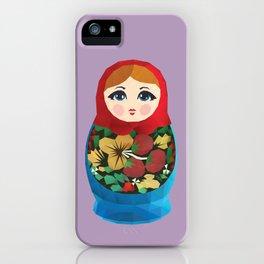Matryoshka Polygon Art iPhone Case