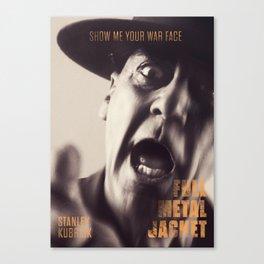 Full Metal Jacket, Stanley Kubrick, alternative movie poster, minimalist print, Vietnam War, Marines Canvas Print