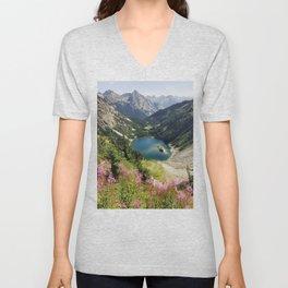 Cascade Summer Wildflowers Unisex V-Neck
