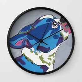 Boston Terrier Pop Art Dog Pet Portrait Wall Clock