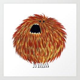 Poofy Chewbacca Art Print