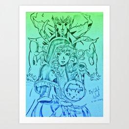 Gazes Of Destruction Art Print
