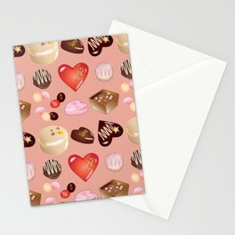 Peace Love Chocolate Candy Stationery Cards