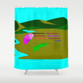 My Colorful and True Ode to Beautiful Appalachia! Shower Curtain