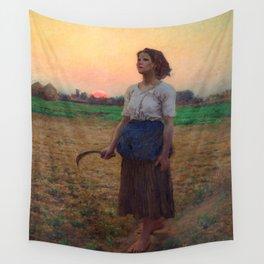 Jules Breton - Song of the Lark Wall Tapestry