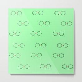 Glasses, Green Metal Print
