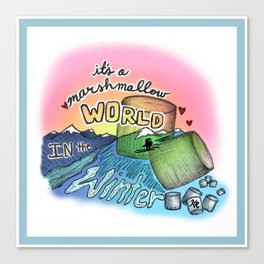 Marshmellow World Canvas Print