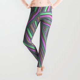 Abstract striped pattern. 5 Leggings