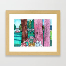 Curious Creatures 2 Framed Art Print