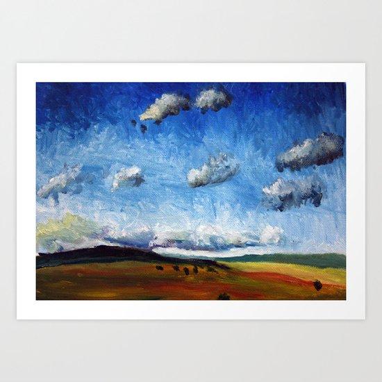 Oil landscape/seasons Art Print