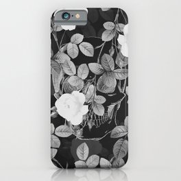 Skull and Roses iPhone Case