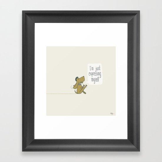 Dog Expression Framed Art Print