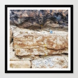 Stone Wall with Nail Canvas Print