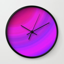 Pink & Blue Circles | Bright gradient stripes Wall Clock