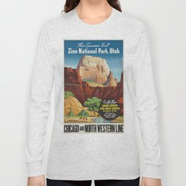 Vintage poster - Zion National Park Long Sleeve T-shirt