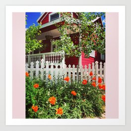Cottage In The Mountains Art Print
