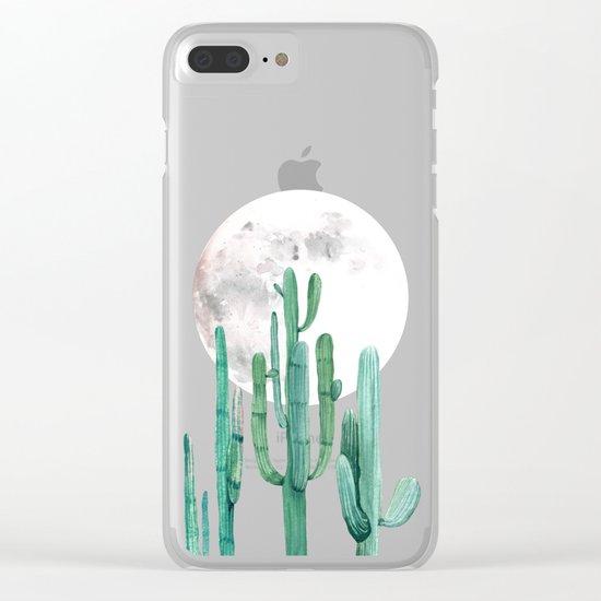 Desert Nights 2 Clear iPhone Case