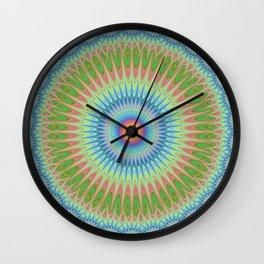 Starry mandala Wall Clock