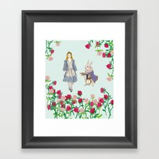 alice in wanderland Framed Art Print