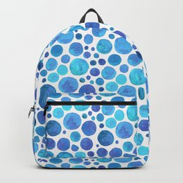 Blue Watercolor Dots Backpack
